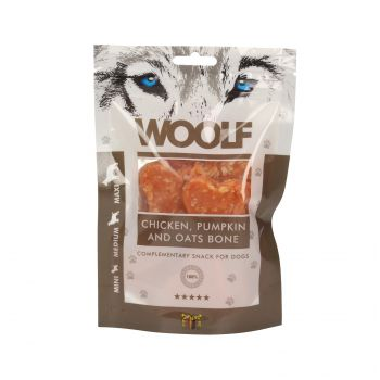 WOOLF PRZYSMAK CHICKEN, PUMPKIN AND OATS BONE 100G