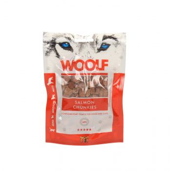 WOOLF PRZYSMAK SALMON CHUNKIES 100G
