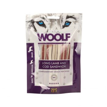 WOOLF PRZYSMAK SOFT LAMB AND COD SANDWICH LONG 100G