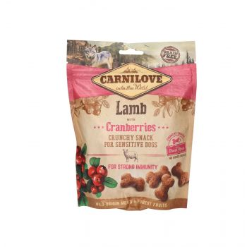 CARNILOVE PRZYSMAK DLA PSA CRUNCHY SNACK LAMB WITH CRANBERRIES WITH FRESH MEAT 200G